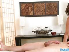 Riley reid doggystyle on massage table