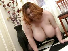 Big mature busty mom with hungry pussy