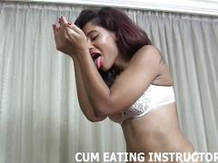 Eat your cum or i will punish you again cei