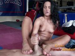 ballbusting, femdom, footjob, hd videos, handjobs, slave