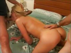 Beautiful blond girl mmf sex