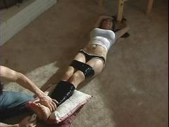 Helpless busty cunt viviana tape tied and tickled
