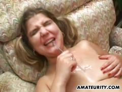 Busty amateur girlfriend orgy with bukkake