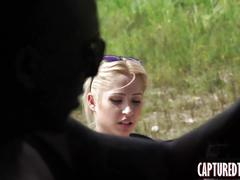 Blonde teenie goldie captured and fucked