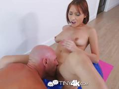 Tiny4k - petite adessa winters gets a taste of j mac's monster dick