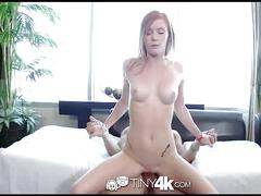 Tiny4k - redhead alex tanner with perky tits plays with a sex toy