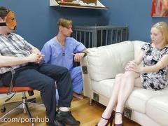 Sweet blonde candy girl gets a brutal assfucking and a hard paddling
