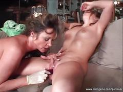 Slutty chicks in hot lesbian action