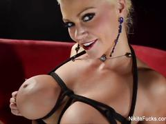 Nikita von james gets her pussy vibrated