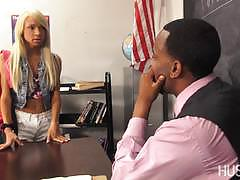 Teacher gets a blow job from hot student