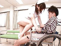 Hot and busty japanese nurse fucks her patient