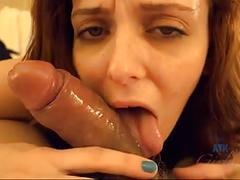 Emma gets double creampied and cum on her hands