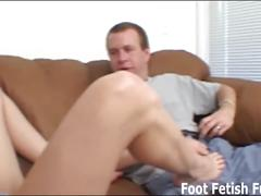 Let me give you a nice sloppy footjob