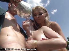 Cum sluts swap sperm after buttfucking