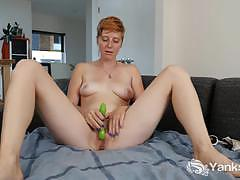 cum, masturbation, solo, redhead, vibrator, orgasm, climax, panties, amateur, short hair, cumming