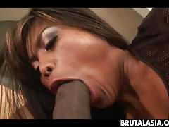 asian, interracial, small tits, brutalasia, blowjob, fellatio, blow-job, sucking, oral, small-tits, riding, cowgirl, bj, brunette