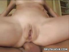 Asian tart dirty and wild receiving anal screwing