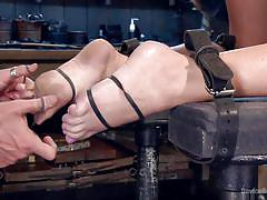 blonde, bdsm, spanking, babe, big boobs, suckers, restraints, device bondage, kink, summer brielle