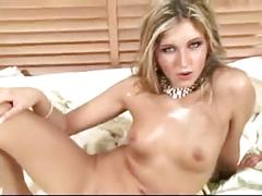 Hot girl having fun with three guys