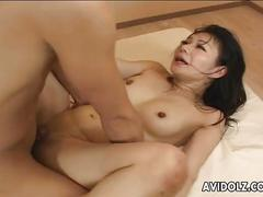 Gorgeous japanese tart moans during hardcore fucking