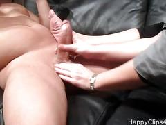 cumshot, milf, handjob, mature, moms, mom, stepmom