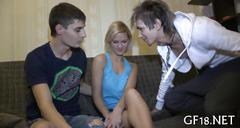 Carnal cuckold fornication as the dude watches his girl fuck