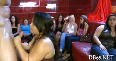 Deep fornication delights party babes lusting for strippers