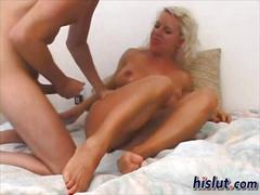 Blonde honey needs this cock badly