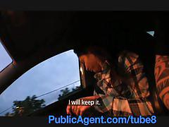 Publicagent tiny women fucked by a stranger in his car