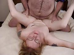 amateur, blowjob, tube8.com, blonde, natural tits, shaved vagina, bear, missionary, reverse cowgirl, doggystyle, facial, cum swallowing