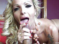 blonde, anal sex, transexual, pov, cock riding, tranny blowjob, tranny pov, tranny access, carla novaes