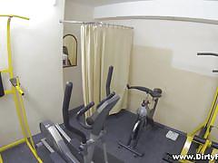 blonde, babe, slim, blowjob, spy cam, pov, gym, fucking glasses, teresa x