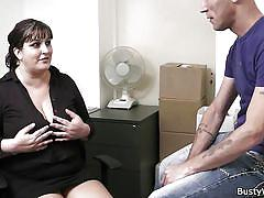 chubby, big naturals, titjob, black hair, bbw, tits groping, at work, busty work, nicoletta x