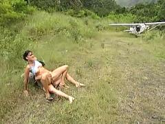 Outdoor young teen fucking for fly away. anal.