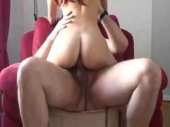 Tiny tit redhead katrin fucks some goofy dude
