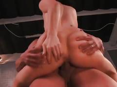 Ashli orion in a threesome with two big dicks