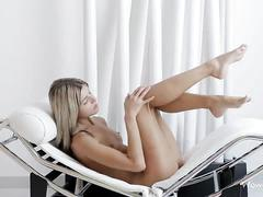 Gina gerson strips and fingers pussy