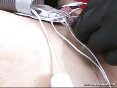 Japanese slave gets her pussy toyed in bondage.