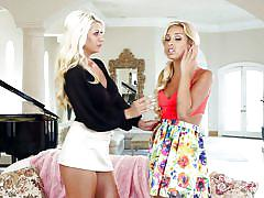 When naughty blondes fuck