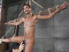 milf, bdsm, ebony, round ass, whipping, brunette, tied up, mouth gagged, hard tied, matt williams, skin diamond