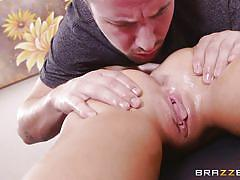 tattoo, massage, babe, blowjob, oiled, brunette, dirty masseur, brazzers network, jessy jones, whitney westgate