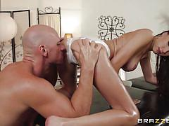 milf, massage, round ass, slim, oiled, brunette, dirty masseur, brazzers network, victoria rae black, johnny sins
