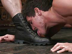 bdsm, gay, licking boots, crawling, bound gods, kink men, jaxton wheeler, jett jax