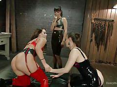 milf, threesome, bdsm, lesbians, round ass, ass fingering, pussy licking, brunette, anal plug, everything butt, kink, casey calvert, roxy raye, dana dearmond