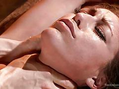 bdsm, babe, brunette, dungeon, tied up, choking, mouth fingering, dungeon sex, kink, owen gray, rilynn rae