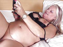 Chubby mature whore likes only big sex toys