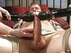 bdsm, vibrator, tied up, gay, duct tape, mouth gagged, men on edge, kink men, drake temple