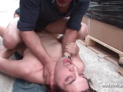 Amateur redhead hard anal fucked n fisted by the taxi driver
