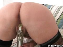 British mums having hot solo sex