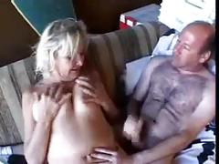 Mature blond anal cum on ass